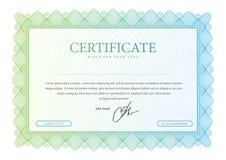 Mönstra som används i valuta och diplom Arkivbild