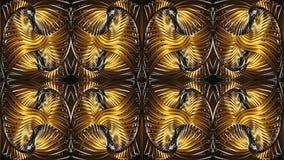 Mönstrad bakgrund för abstrakt guld, rasterbild Royaltyfria Bilder