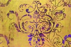 Mönstrad bakgrund för utsmyckad sjaskig damast royaltyfri bild