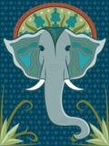 mönstrad elefant Arkivfoto