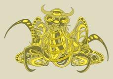 Mönstrad fantastisk varelse Cthulhu Arkivfoto