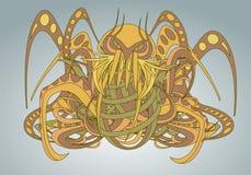 Mönstrad fantastisk varelse Cthulhu Royaltyfria Bilder
