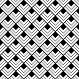 mönstrad fyrkanten svart white Royaltyfri Fotografi