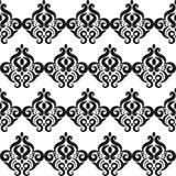 mönstrad fyrkanten svart white Fotografering för Bildbyråer