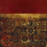 Mönstrad geometrisk texturerad bakgrund för abstrakt begrepp med guld- stock illustrationer