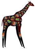 mönstrad giraff Arkivbild