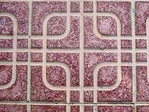 Mönstrad golvtegelplatta Arkivfoto