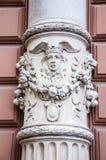 Mönstrad kolonnarkitektur för gotisk sten Arkivbilder