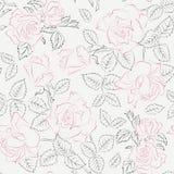 mönstrad rose stock illustrationer
