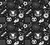 mönstrad seamless fotboll Stock Illustrationer