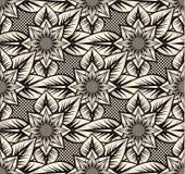 mönstrad seamless solrosor Royaltyfri Bild