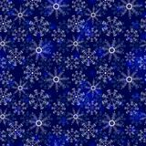 mönstrad snowflakes Royaltyfria Bilder