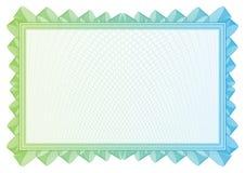 Mönstrad som används i valuta och diplom Arkivbild