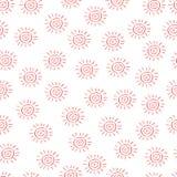 mönstrad sunvektorn royaltyfri illustrationer