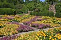 Mönstrad täcketrädgård i Asheville North Carolina royaltyfria foton