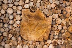 Mönstrad yttersida av trät Royaltyfri Fotografi