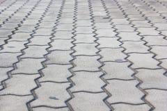Mönstrade stenläggningtegelplattor, cementtegelstengolv Royaltyfri Fotografi