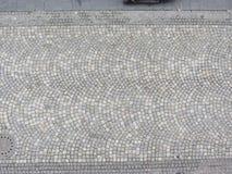 Mönstrade stenläggningtegelplattor, cementtegelstengolv Royaltyfri Bild