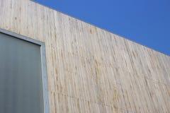 Mönstrade tunna wood plankor uppställda Royaltyfri Foto