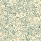 Mönstrar blom- seamless för klotter Royaltyfri Fotografi