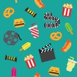 Den Seamless retro PIXELfilmen mönstrar Arkivbild