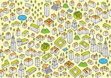 Mönstrar fastställda Seamless för arkitektur royaltyfri illustrationer