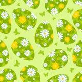 Mönstrar gröna seamless för påsk. Royaltyfri Fotografi