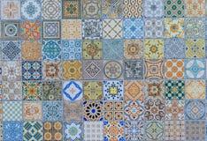 Mönstrar keramiska tegelplattor för vägg den mega uppsättningen från Thailand Arkivfoton