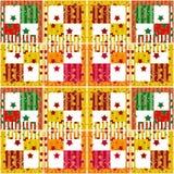 Mönstrar sömlösa retro rutiga stjärnabeståndsdelar för patchwork backgr Arkivfoton