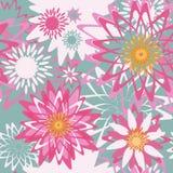 Blom- seamless mönstrar Royaltyfri Foto