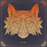 Mönstrat huvud av den röda räven Royaltyfri Fotografi