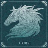 Mönstrat huvud av hästen Royaltyfria Bilder