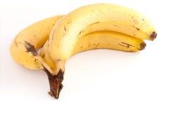 mörbultade bananer Arkivfoton