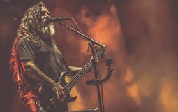 Mörder, Tom Araya leben in Konzert 2017 Lizenzfreie Stockbilder