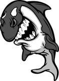 Mörder-Wal-Maskottchen-Karikatur Lizenzfreie Stockfotografie