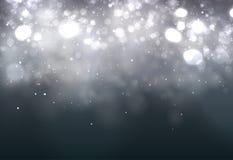 Mörk abstrakt bakgrund för mjuk bokeh festliga lampor stock illustrationer