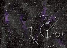 Mörk abstrakt Hud bakgrund med geometriska former stock illustrationer