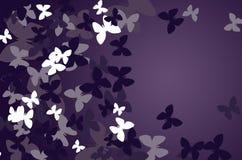 Mörk bakgrund med fjärilar stock illustrationer