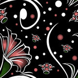 Mörk blommamodell Royaltyfri Foto