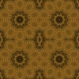 Mörk brunt för sömlös ockra för blom- prydnader guld- Arkivfoto