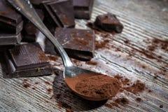 Mörk choklad Arkivbilder