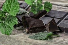 Mörk choklad Arkivbild