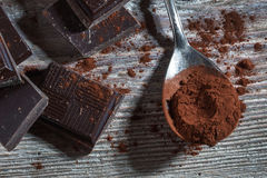 Mörk choklad Fotografering för Bildbyråer