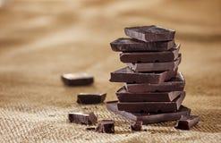 Mörk choklad Arkivfoto