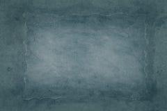 Mörk cyan grungy bakgrund Fotografering för Bildbyråer