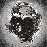 mörk död stock illustrationer