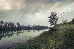 Mörk död sjö Arkivfoton