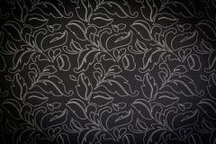 Mörk damast sömlös blom- modellbakgrund arkivfoton