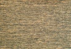 mörk detaljyttersida för brun burlap Arkivfoton