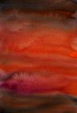 mörk dramatisk vattenfärg för konstbakgrund Royaltyfri Bild
